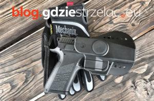 Kabura DesignTech pistolet CZ P07 rękawiczki Mechanix
